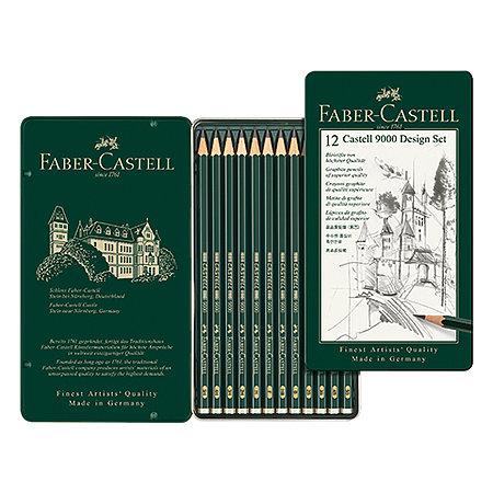 Castell 9000 Pencil Sets, 12