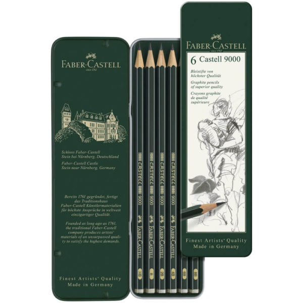 Castell 9000 Pencil Sets, 6