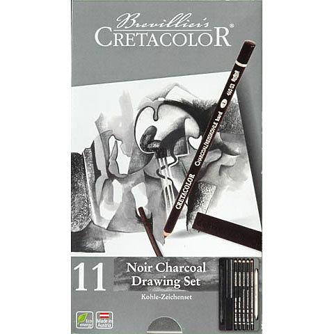 Noir Charcoal Drawing Set, 11-Piece Set