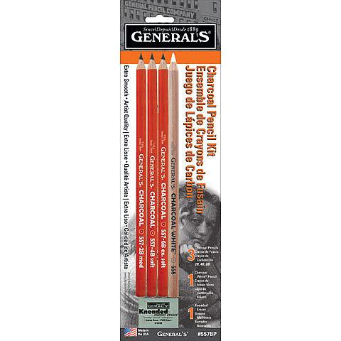 Charcoal Pencil Kit, 5 Pieces